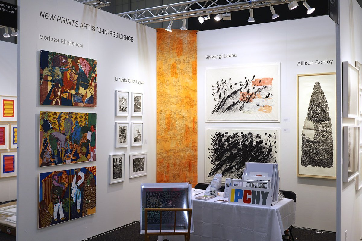 Visit IPCNY at Booth #F01 at Art on Paper! Featuring #NewPrints Artists-in-Residence #ErnestoOrtizLeyva, #ShivangiLadha, #MortezaKhakshoor, and #AllisonConley, and our 2018 #MelBochner Benefit Print. Tickets & hours at http://thepaperfair.com . #collectprintspic.twitter.com/c0RM0EIMky