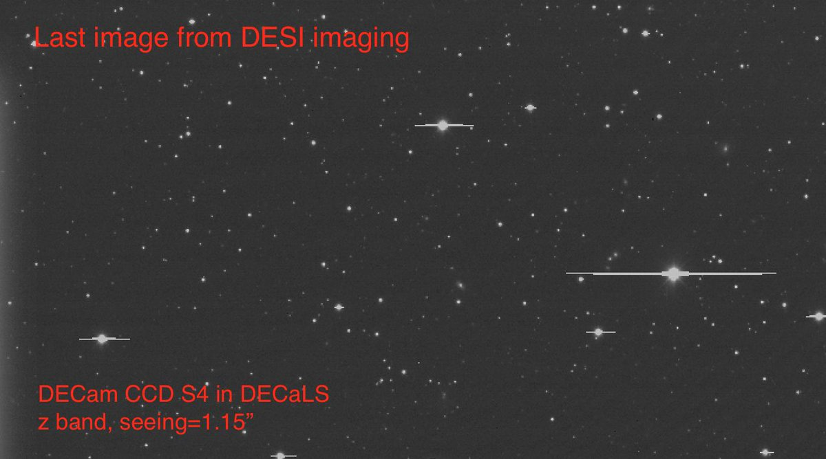 The last night was clear and calm and dark. --@rblum5 It was our LAST NIGHT of imaging, leading to the completion of the DESI imaging Legacy Surveys✨🔭 🎉 Huge congrats to the imaging teams! 🎉 See our very last image below.