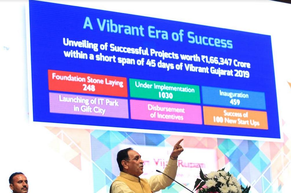 Rupani inaugurates projects worth Rs. 166,000 Crore announced at Vibrant Summit – 2019: Govt