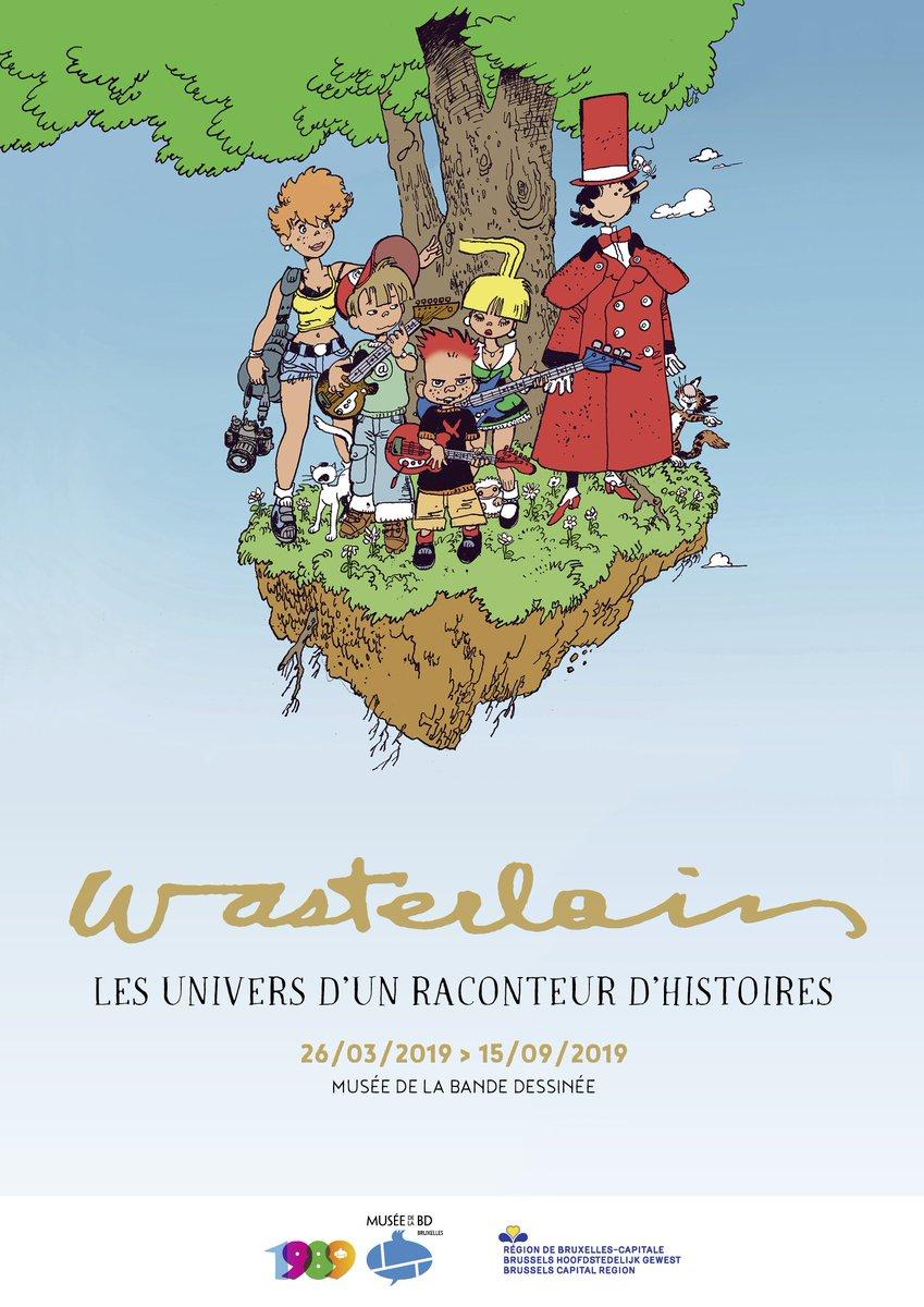 Grande exposition - Dès le 26 mars, nous vous invitons pour une balade à travers les belles histoires de Wasterlain !   #wasterlain #bd #expo #museedelabd #brusselsmuseums #visitbrussels