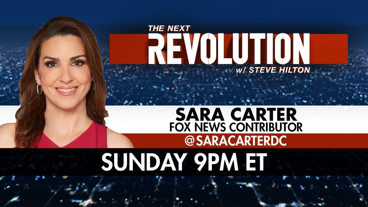 SUNDAY AT 9PM ET! @SaraCarterDC joins #NextRevFNC - tune in on @FoxNews! <br>http://pic.twitter.com/Rm8DKb04OL