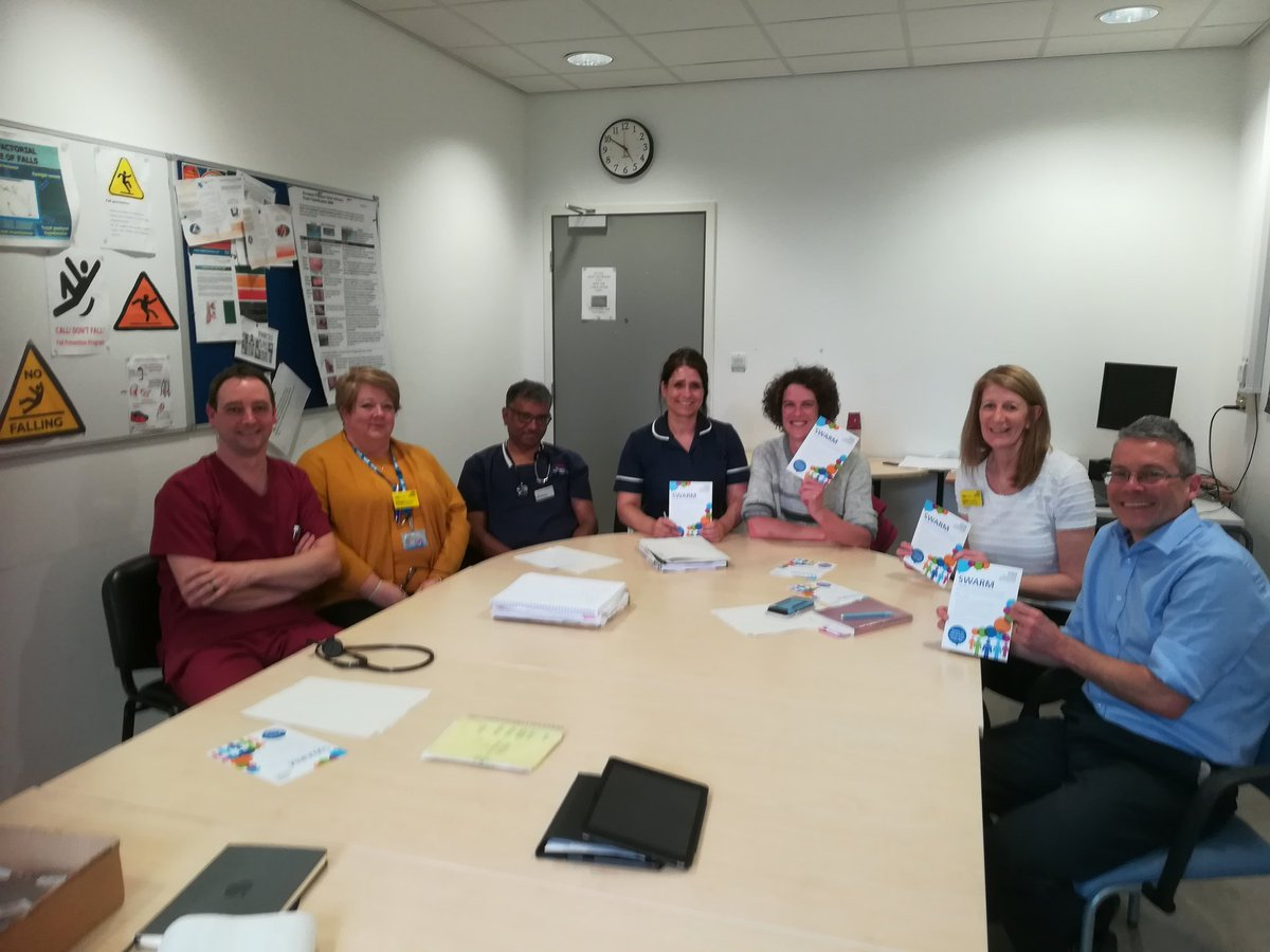 Fantastic SWARM yesterday with some of our ED team and the MD and DON #CRH. Some great learning identified. #learning #swarm #learningfromincidents #patientsafety