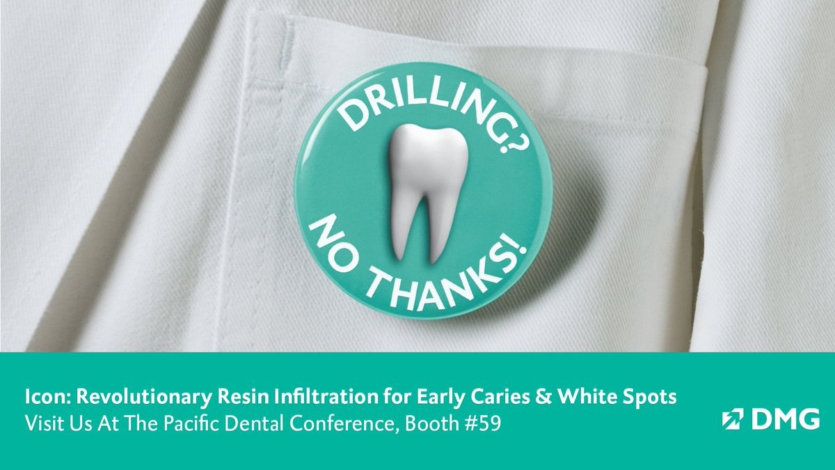 Have you ever wondered if there is a DRILL-FREE solution for insipient caries? You don't have to wonder anymore. Find out more about #IconbyDMG, our solution for early caries, at booth 59. #2019PDC #DMGAmerica