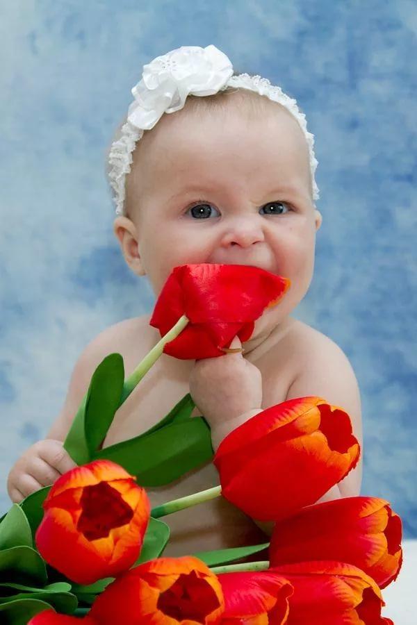 Открытки с 8 марта фото детские красивые