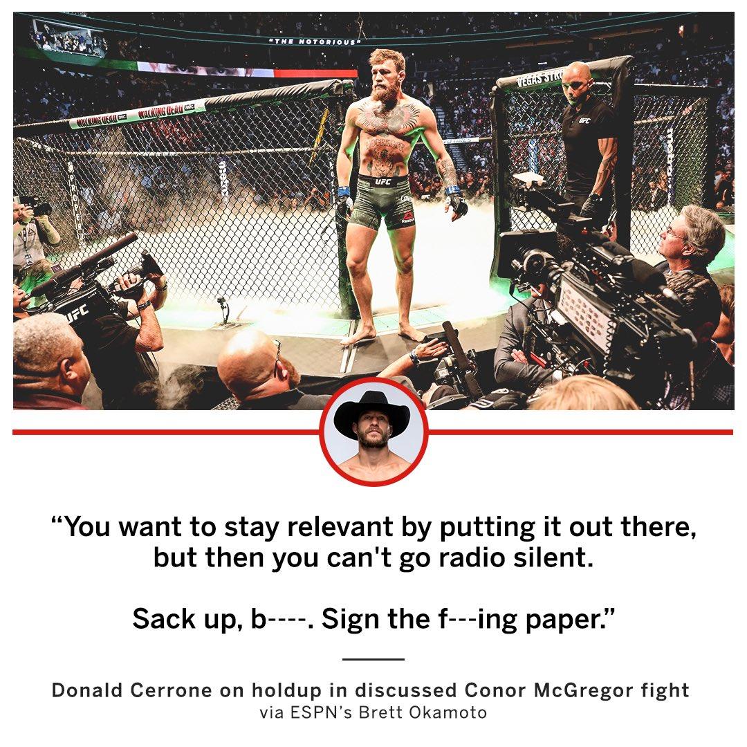 Cowboy had strong words for Conor McGregor 🤬 (via @bokamotoESPN)