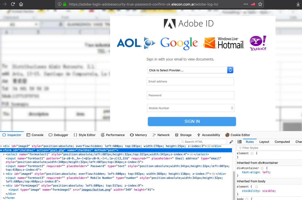 One more #chalbhai #phishing kit, targeting Adobe ID users (post