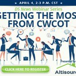 Are you getting the most from CWCOT? Click here to register for an informative, complimentary webinar on the topic from DS News and @Altisource:https://t.co/4I7vrB2xOa