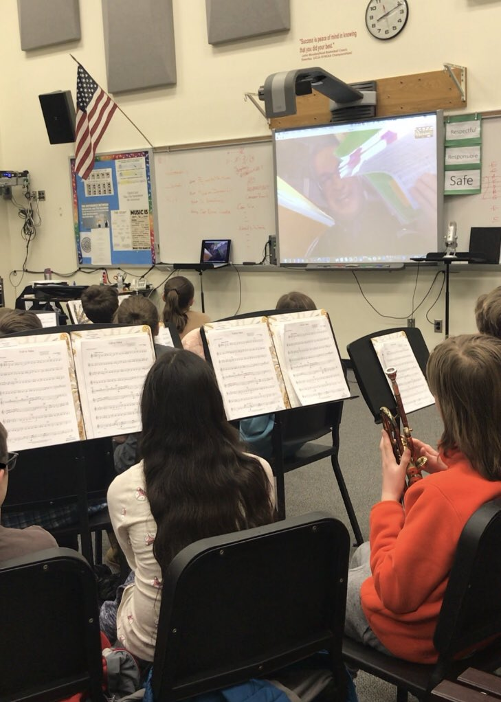 """On Tuesday the Jr. Honor Band got toSkype with composer <a target='_blank' href='http://twitter.com/scott_watson'>@scott_watson</a>! When talking to the Ss about composing he said, """"The best way to have a great idea is to have a lot of ideas!"""" He suggested keeping a composers sketchbook. Love it! 🎶 <a target='_blank' href='http://search.twitter.com/search?q=MIOSM'><a target='_blank' href='https://twitter.com/hashtag/MIOSM?src=hash'>#MIOSM</a></a> <a target='_blank' href='http://search.twitter.com/search?q=APSArtsGreat'><a target='_blank' href='https://twitter.com/hashtag/APSArtsGreat?src=hash'>#APSArtsGreat</a></a> <a target='_blank' href='http://twitter.com/APSArts'>@APSArts</a> <a target='_blank' href='https://t.co/RkVz2hH6Ug'>https://t.co/RkVz2hH6Ug</a>"""