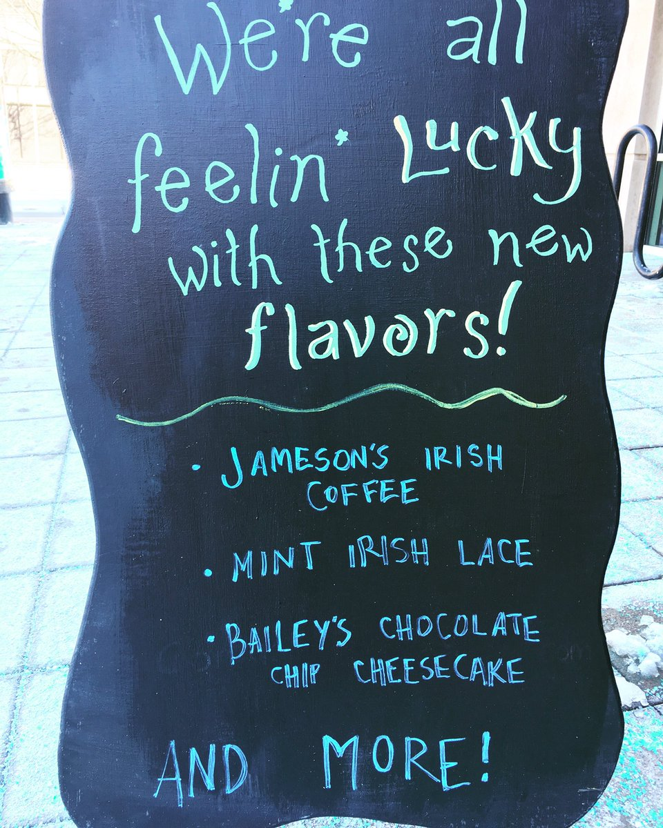 Our stores are really enjoying these March flavors! Lots of opportunity for punny jokes on our A-Frames. Have you discovered your favorite #monthlyflavor yet? #missionhill<br>http://pic.twitter.com/uzcqY8Q57A