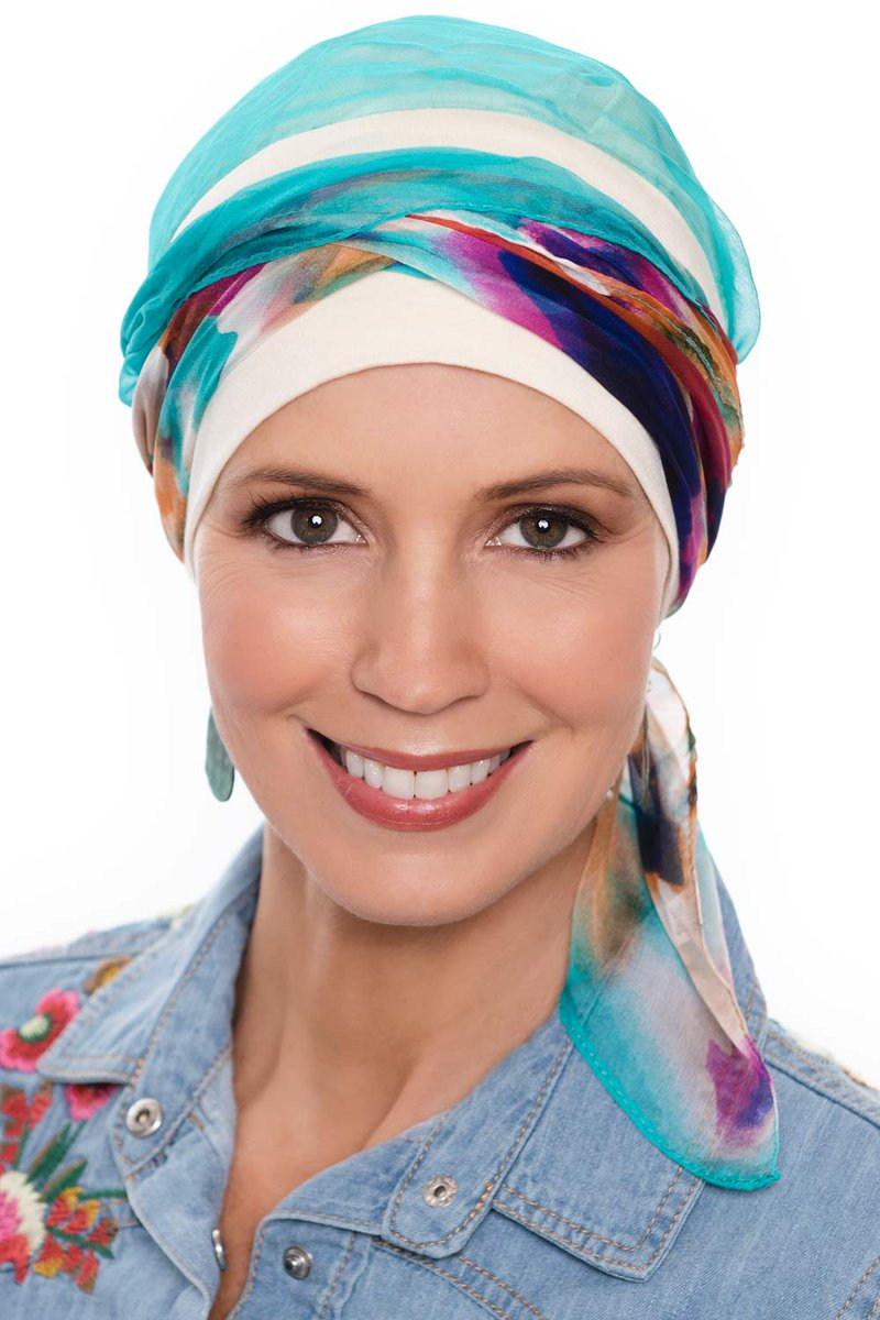 Try our NEW Lanie Pre Tied Scarf! https   www.headcovers.com  lanie-pre-tied-scarf-cap-pre-tied-scarves-for-women  …  headscarf  chemo   cancer  hairloss ... 08622dfdbfda
