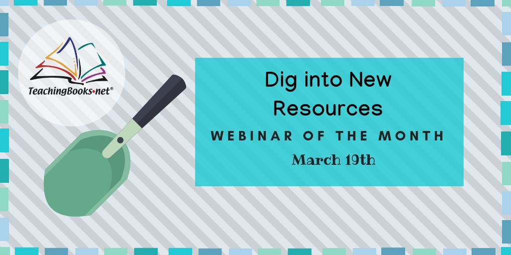 test Twitter Media - Webinar of the Month: Dig into New Resources on TeachingBooks  Discover resources to support exciting book discussions and engaging lessons.  Sign up: https://t.co/nl9bTyj8Ad https://t.co/7MqaBKxVgl