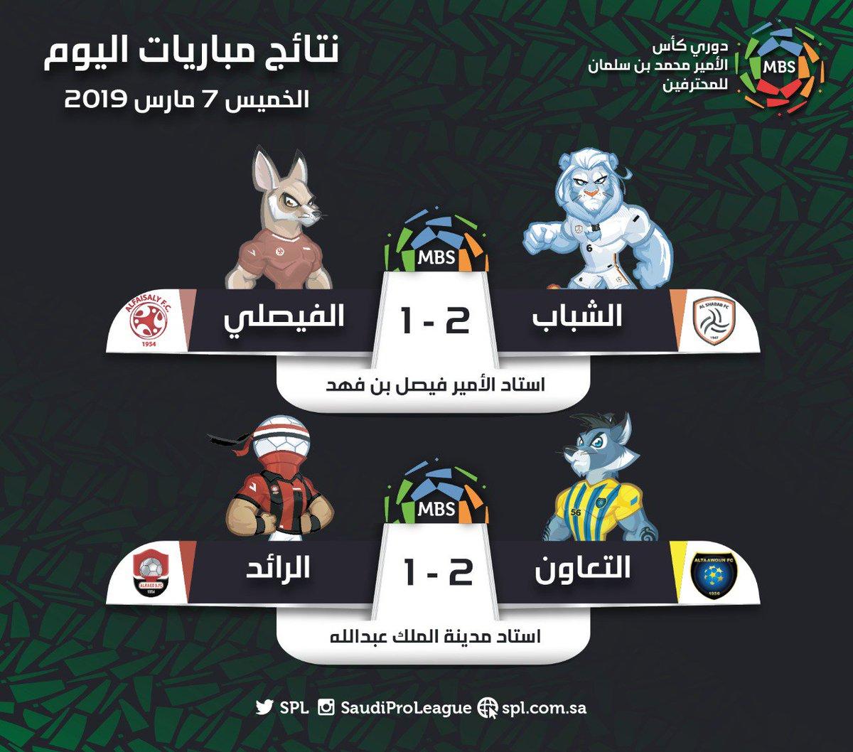 الدوري السعودي للمحترفين в Twitter مباراتان 6 أهداف