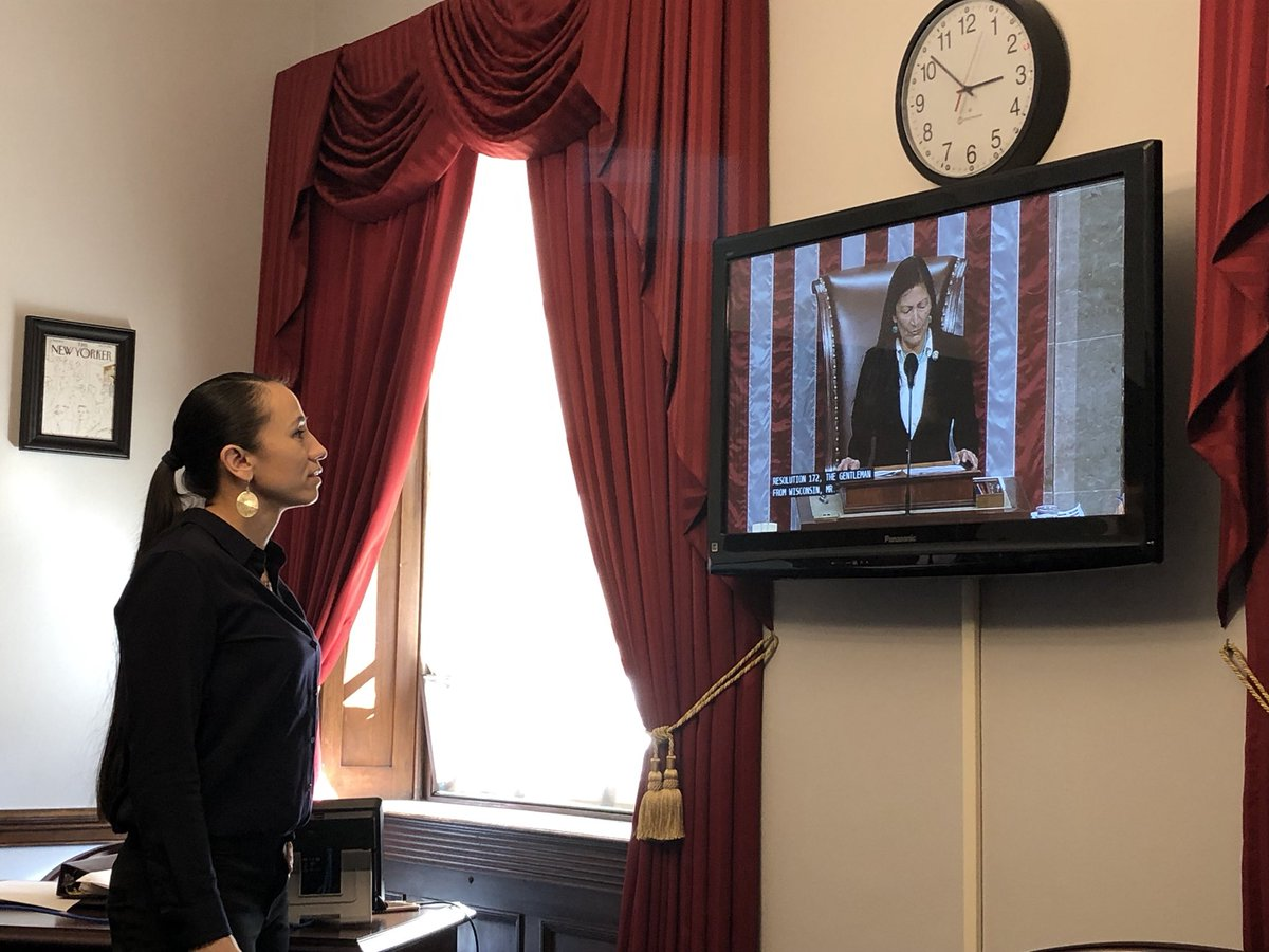 Watching my friend, @RepDebHaaland, become the first Native American woman to sit in the Speaker's chair and preside over the House Floor. #RepresentationMatters