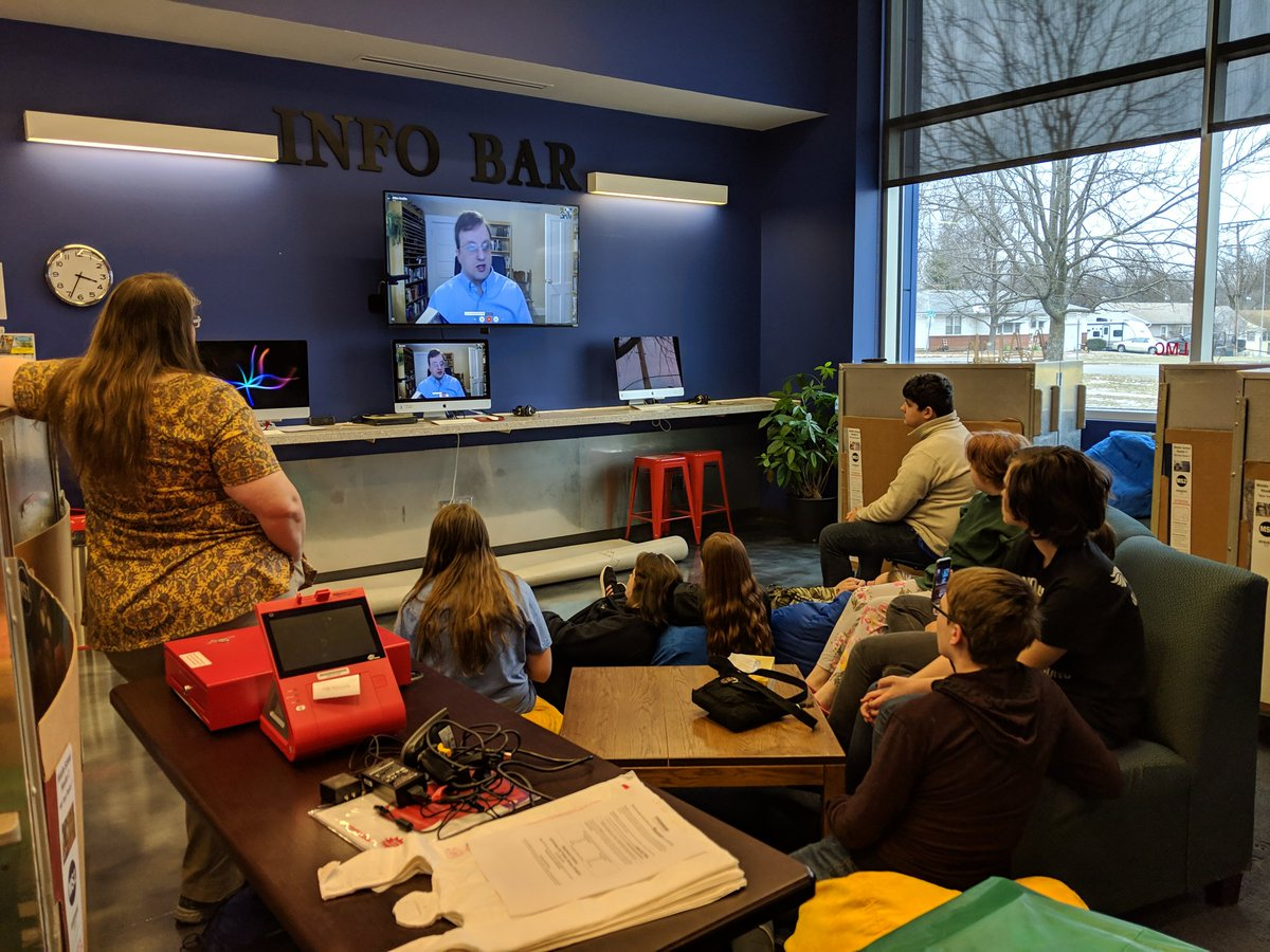 Enjoying listening to @sciencepittstop 's students Skyping with Mike Mullen, author of Ashfall. I enjoyed it when I read it a few years ago, and clearly they enjoyed it too! Lots of thoughtful and insightful questions!