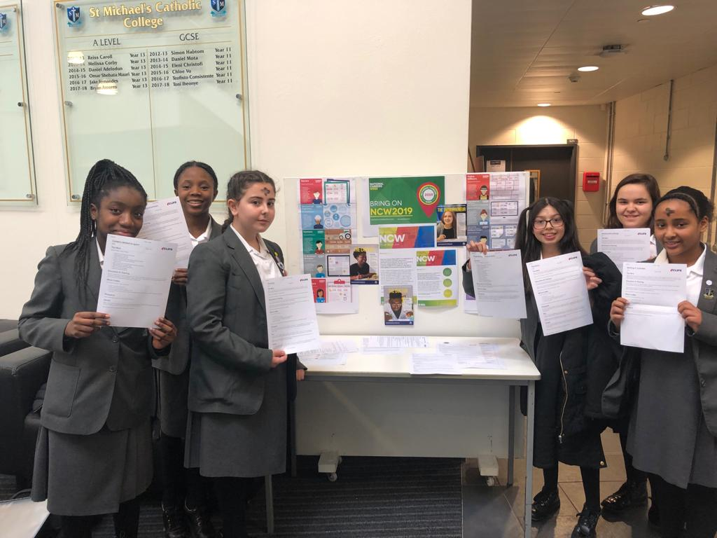 Year 8 students getting involved in #CareerFair They have enjoyed learning about skills and experiences they need for their chosen paths.