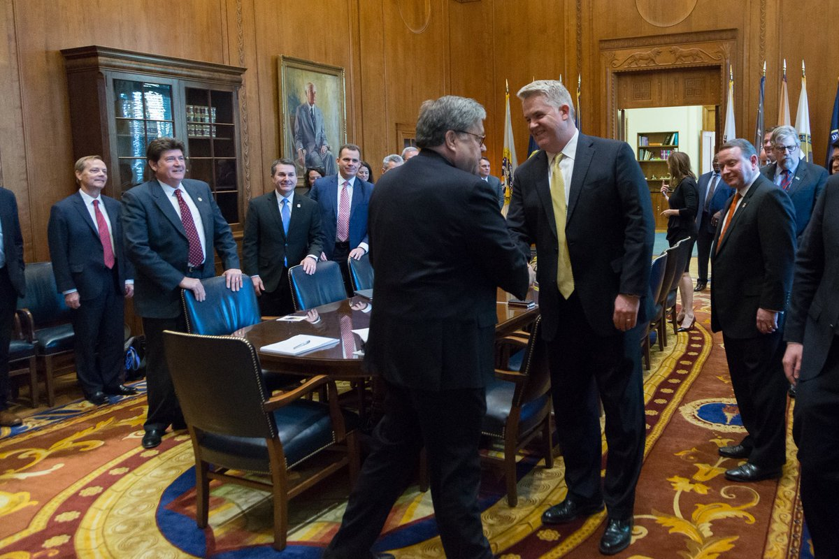 U.S. Attorney John Huber, who serves as vice chair of the Attorney General's Advisory Committee, met with new AG William Barr this week in Washington, D. C. ⁦@TheJusticeDept⁩ https://t.co/3cZqagJCAv