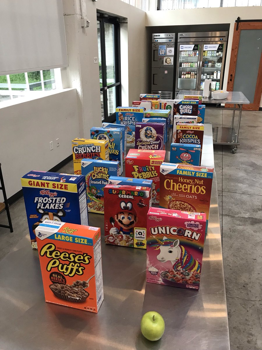 morning after game night cereal selection