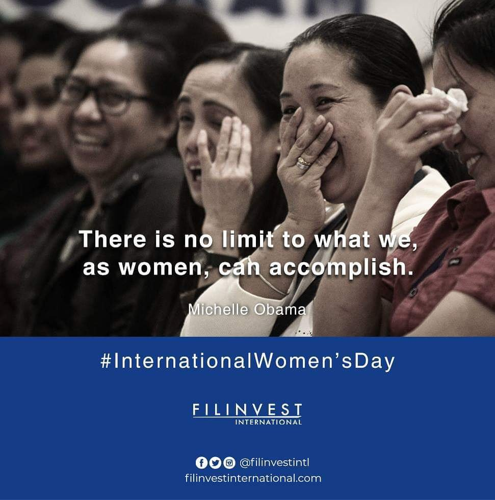 Hi kabayan,  Let's all celebrate the day of our #FilinvestorWomen, Happy #WomensDay!  #FilinveStories #InvestmentTips #HappyFilinvestor #Filinvest #FilinvestorInspires #FilinvestInternational #OFW #Investment #RealEstate #Opportunity #RentalIncome #ExtraIncome #Family #Future https://t.co/Ae5ccMdfzh