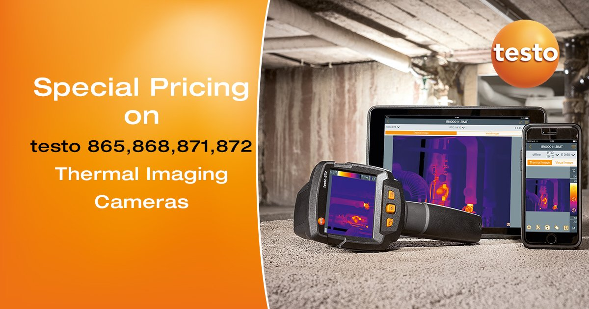 """Special promotion on the """"Testo Smart Thermal Camera Range"""" (testo 865/868/871/872). Prices starting from $ 950.00 ( Ex GST & Freight). Contact Testo for more information. https://t.co/6ItqQDgRX6"""