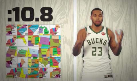 Bucks' Sterling Brown named all 50 states in 30 seconds 😳