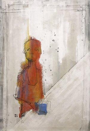#Portrait:作品「Coffee time」1167×803mm (50P) #artist #painting #art #fineart #coffeetime https://t.co/ltwX0kKrbk