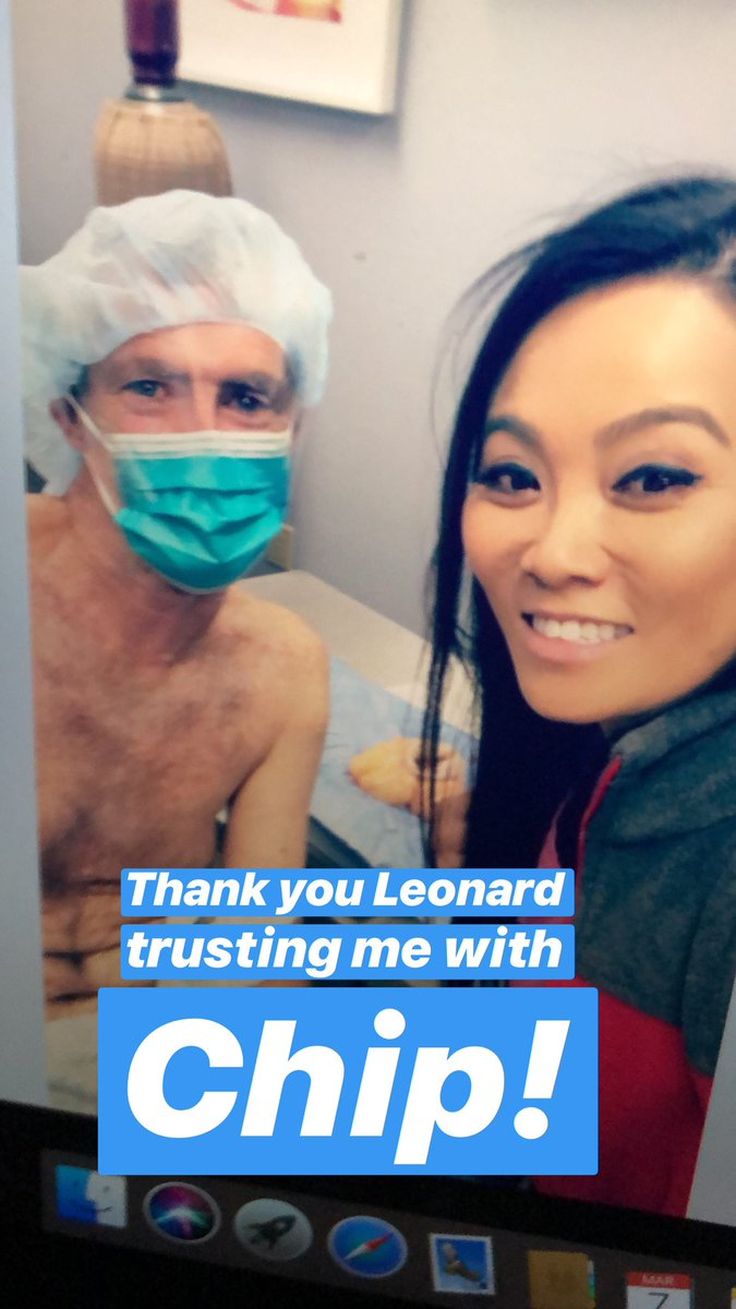 Me and Leonard and Chip #drpimplepopper