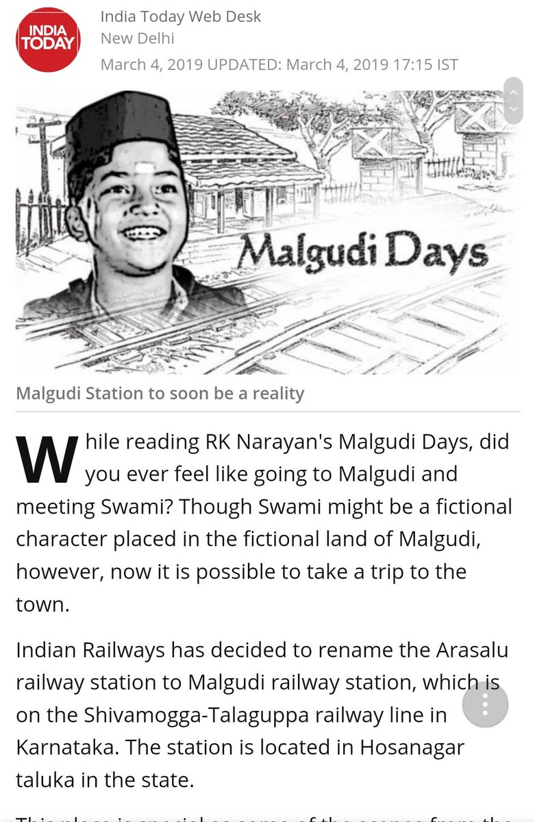 malgudi hashtag on Twitter