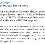 Image for the Tweet beginning: #tos #tosc #tosp #toscoin #tosblock