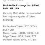 Image for the Tweet beginning: Math Wallet Exchange just added