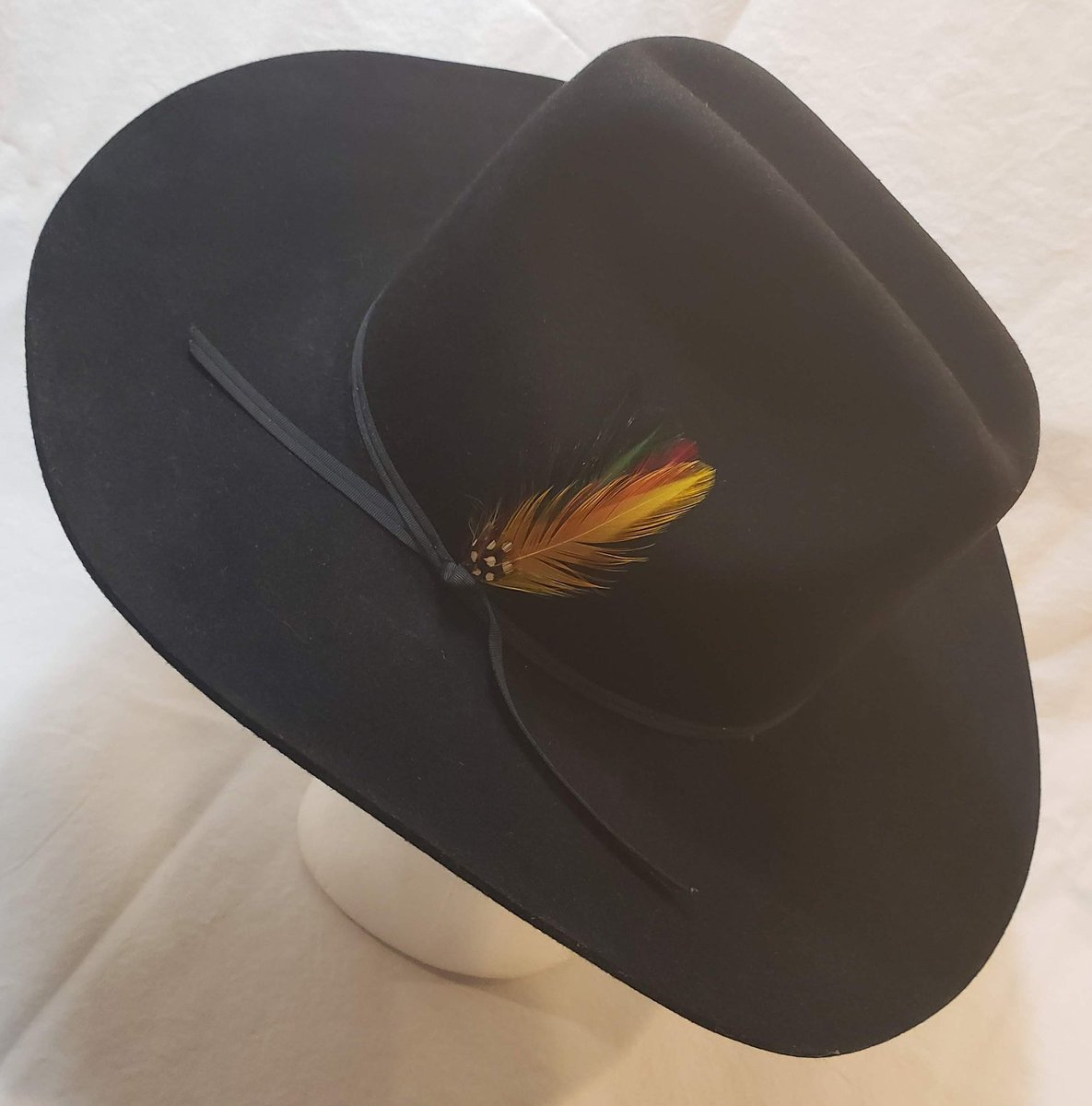 b4a7043f10567 Vintage Stetson 4X Beaver Black Fur Felt Western Hat Size 7 56cm Cowboy  https