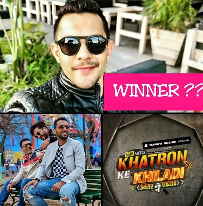 #SuperExclusive BREAKING.... Not #PuneetPathak but #AdityaNarayan is the WINNER of @ColorsTV #KhatronKeKhiladi9  @GossipsTv 😊
