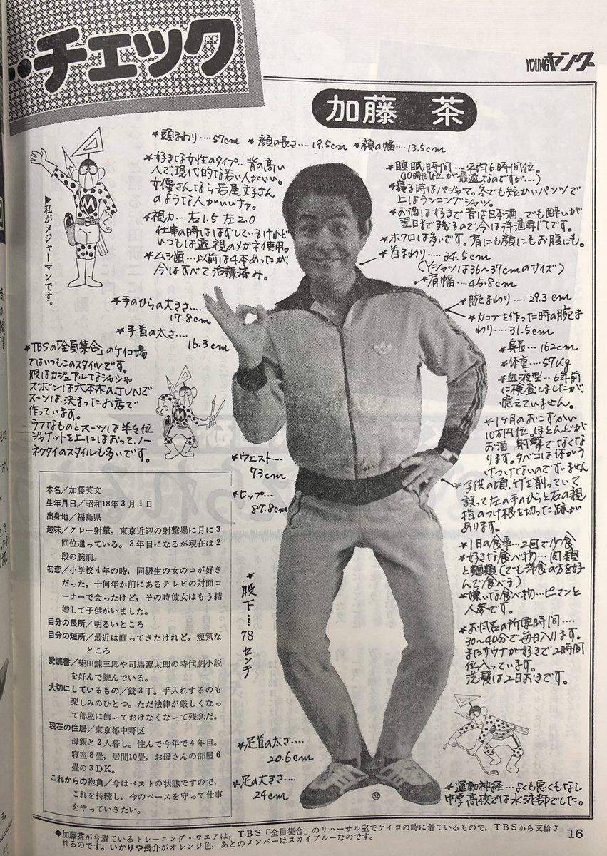 ツイッター 加藤 茶