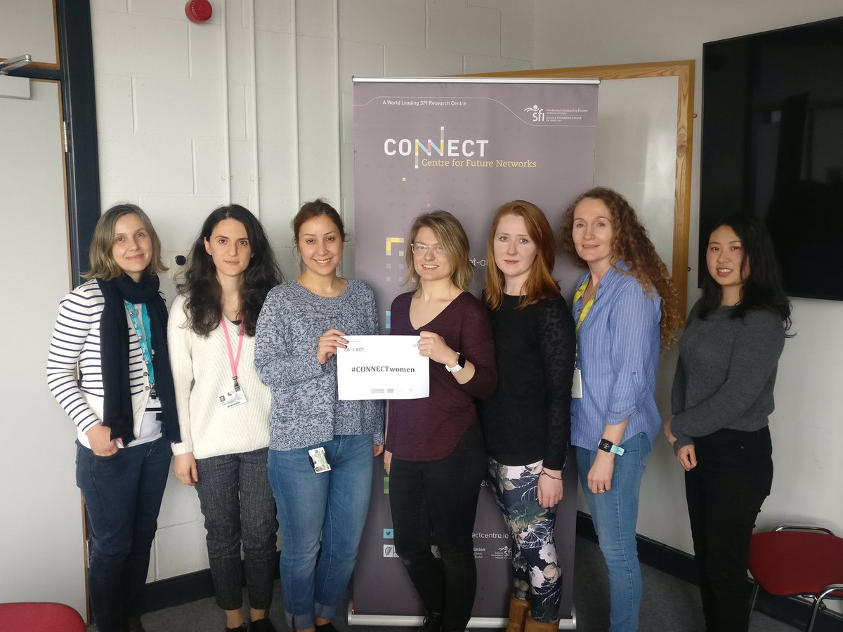 Here are #CONNECTwomen in @MaynoothUni Our research team there works on physical layer radio technologies & mathematical models of #wireless networking. #5G #IPv6  #womenintech  #WomenInSTEM  #InternationalWomensDay #IWD2019