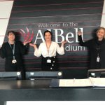 Image for the Tweet beginning: The team at @AJBell_Stadium celebrating