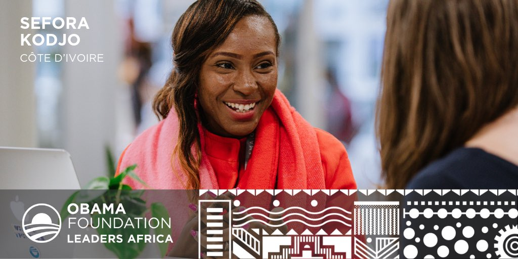 And @SeforaKodjo is helping the next generation of women leaders in Africa rise up. Her organization is training and mentoring young women across the continent to adopt a new model of leadership, one that puts gender equality at the heart of economic development.
