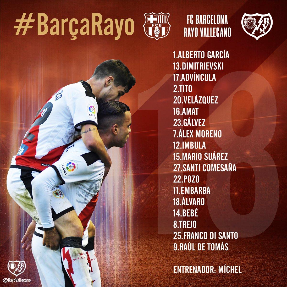 Barcelona Y Rayo Vallecano En Vivo
