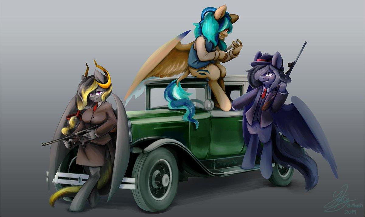 Darkie On Twitter A Mafia Themed Commission Oc Pegasus Digital