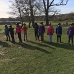 Beautiful sunshine - Group 1 can't see it though as they are blindfold ready for the sensory trail!