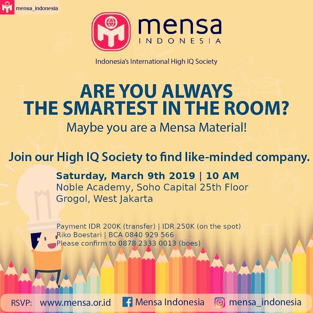 MENSA Indonesia (@Mensa_Indonesia)   Twitter