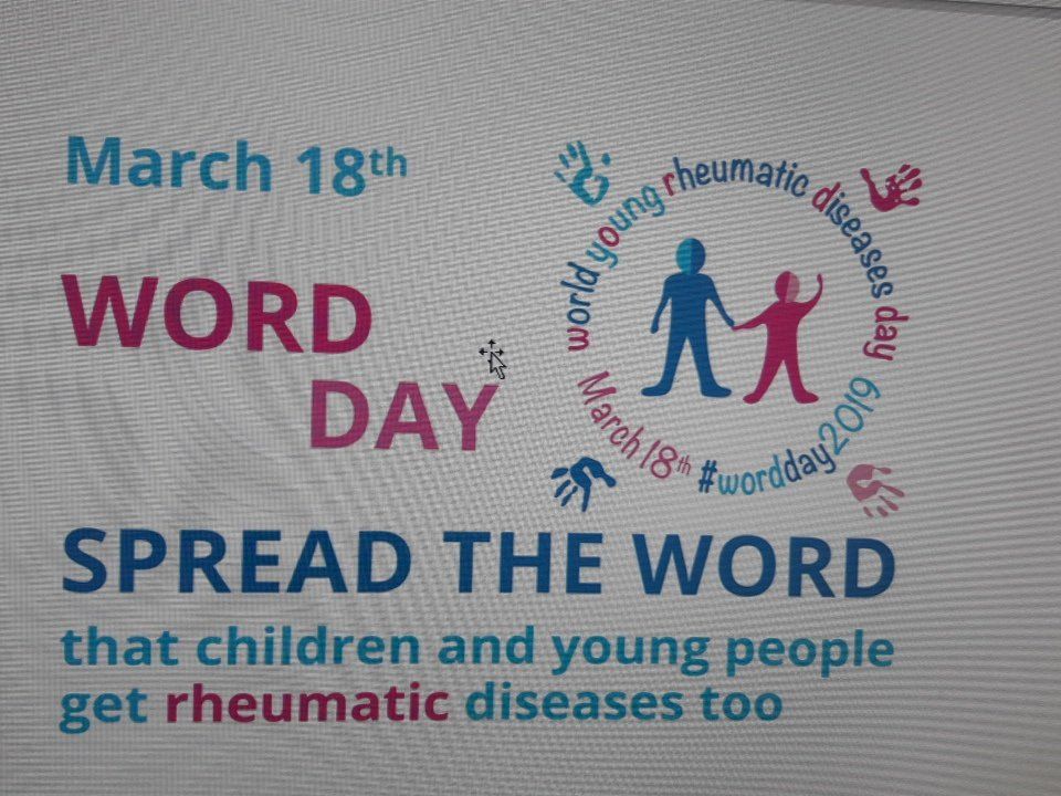 Rheumatic disease training and awareness event in STGH March 18th. Raise awareness.