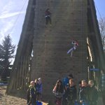 Group 6 are climbing in the sunshine