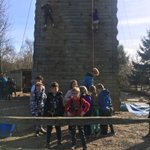 Group 4 are enjoying climbing too