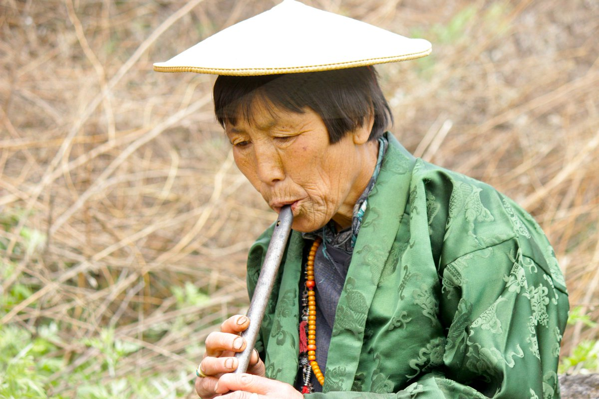 test Twitter Media - Aum Dema is a rarity in #Bhutan. She plays the flute, which, like other musical instruments, is normally played by men. Aum Dema grew up obsessed with flutes and oboes, and eventually broke the cultural barrier and became a well-known flute player and singer #IWD2019 https://t.co/IhOaMoNTkE