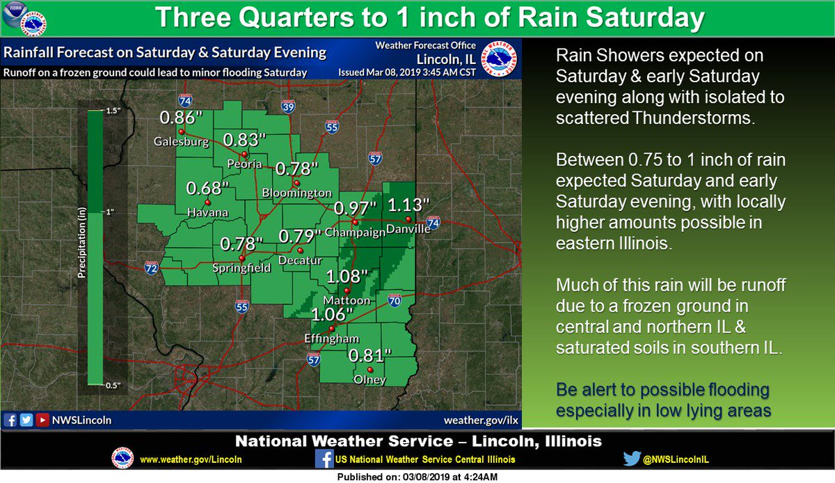 Nws Lincoln Il On Twitter Showers Some Thunderstorms Will Bring