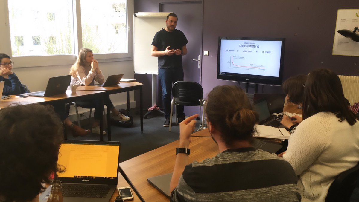 🔎💻 Ce matin Michael anime à #Rouen un workshop sur le SEO https://t.co/i7UfsDylQE