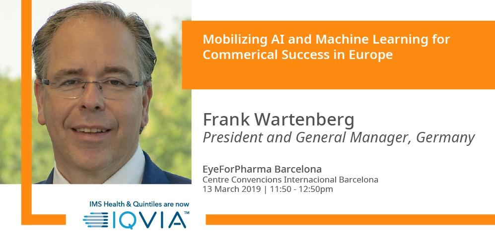 IQVIA's Frank Wartenberg will be running a workshop at #efpBarca in #Barcelona. Learn how the application of AI and Machine Learning capabilities drive commercial success in the EU. Find out more here : http://bit.ly/2tVuHvJ