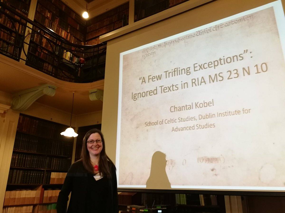 """test Twitter Media - RT @thecelticist: Next up, the fantastic @ChantalKobel on """"ignored texts"""" in the Book of Ballycummin. #23N10 https://t.co/asv2I1BjYn"""