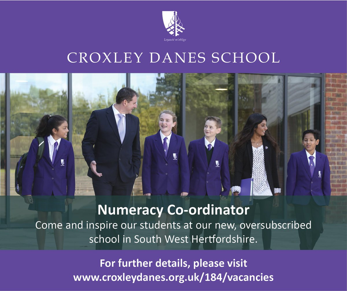 Fantastic opportunity to join our new, oversubscribed school as Numeracy Co-ordinator. Closing date 25th March. Details: https://t.co/Z8o1bqt8II #teachingvacancyuk #teachingjobs https://t.co/qifatf3fBV