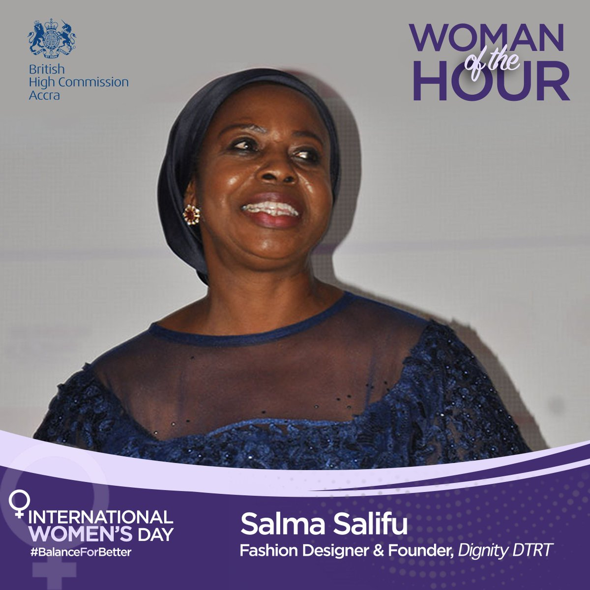 Uk In Ghana On Twitter Womanofthehour Salma Salifu Is A Ghanaian Businesswoman And Fashion Designer She Is Also The Managing Director Of Dignity Dtrt A Garment Factory In Ghana Which Employs