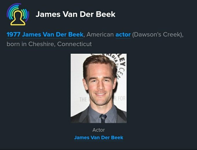 On this day in history James Van Der Beek was born   Happy birthday Dawson   March 8th 1977